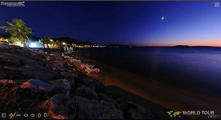 БОДРУМ - виртуальная панорама пляжа гостиницы