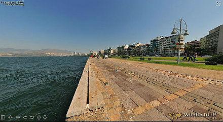 ИЗМИР - виртуальная панорама - на пристани морского залива