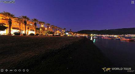 МАРМАРИС - виртуальная панорама вечерней бухты